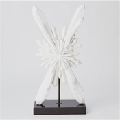 Global Views Facet Starburst Sculpture-White