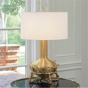 Global Views Fat Brass Twig Table Lamp