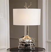 Global Views Fat Nickel Twig Table Lamp