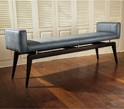 Global Views Faux Bois City Bench-Grey