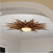 Global Views Flame Light Fixture-Gold