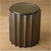 Global Views Fluted Column Table-Bronze