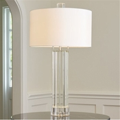 Global Views Fluted Crystal Column Table Lamp