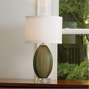 Global Views Fluted Frosted Lamp-Grey-Small