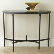 Global Views Fluted Iron Collection Console w/Granite