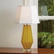 Global Views Fluted Urn Frosted Lamp-Yellow