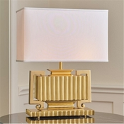 Global Views Fluted Urn Lamp-Brass
