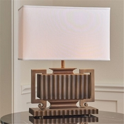 Global Views Fluted Urn Lamp-Light Bronze