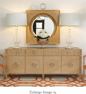 Global Views French Key Everything Cabinet-Light Limed Finish