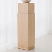 Global Views French Key Pedestal-Light Limed Finish