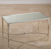 Global Views French Square Leg Table-Nickel & Mirror