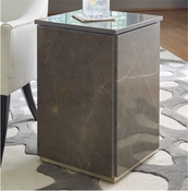 Global Views Graffito Marble Side Table