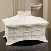 Global Views Grande Jewelry Box-White
