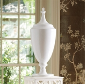 Global Views Grande Urn with Lid-White