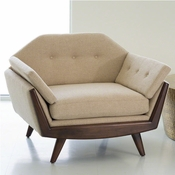 Global Views Greta Lounge Chair-Protege Grid Natural