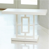 Global Views Grid Block Side Table-White