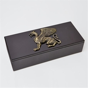 Global Views Griffon Dragon Box Top-Bronze/Black