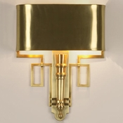 Global Views Hardwired Antique Brass Torch Sconce
