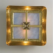 Global Views Hardwired Maze Wall Sconce-Brass