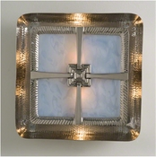 Global Views Hardwired Maze Wall Sconce-Nickel