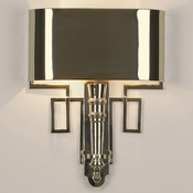 Global Views Hardwired Nickel Torch Sconce