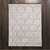 Global Views Hex Swirl Rug-5' x 8'