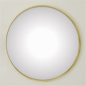Global Views Hoop Mirror-Brass-Large