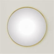 Global Views Hoop Mirror-Brass-Medium