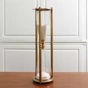 Global Views Hour Glass-Antique Brass