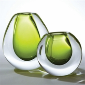 Global Views Ice Vase-Limeade-Small