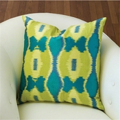 Global Views Ikat Pillow-Peacock