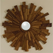 Global Views Industrial Wooden Mirror