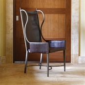 Studio-A by Global Views Iron/Leather Wing Chair