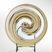 Global Views Ivory Spiral Flat Plate
