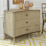 Global Views Klismos 3 Drawer Cabinet-Sandblasted Oak