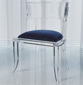 Global Views Klismos Acrylic Chair-Admiral Blue