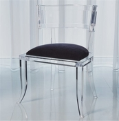 Global Views Klismos Acrylic Chair-Black