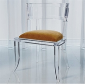 Global Views Klismos Acrylic Chair-Brown Sugar