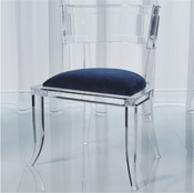 Global Views Klismos Acrylic Chair-Customers Own Material