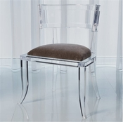 Global Views Klismos Acrylic Chair-Pewter