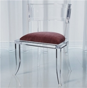 Global Views Klismos Acrylic Chair-Sultana
