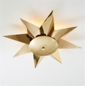 Global Views Klismos Ceiling Fixture-Brass