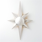 Global Views Klismos Star Sconce-Nickel