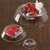Global Views Lamon Rose Bowl-Clear-Large