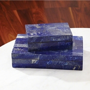 Global Views Lapis Stone Box-Large