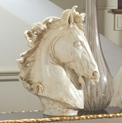 Global Views Lg Horse Head Sculpture-Marble Finish