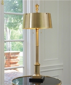 Global Views Library Lamp-Antique Brass