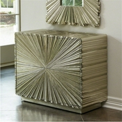Global Views Linen Fold 2 Drawer Chest-Silver