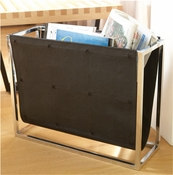 Global Views Magazine Caddy-Black Leather