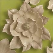 Global Views Magnolia Wall Flower-Ivory